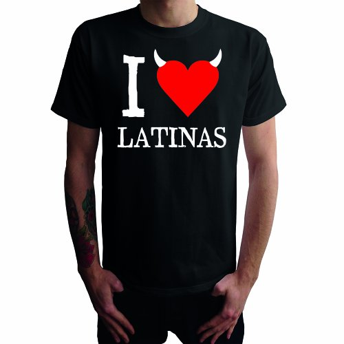 I don't love Latinas Herren T-Shirt Schwarz