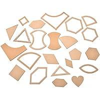 1Set 54pcs mixed Quilt plantillas acrílico DIY herramientas para Patchwork Quilter por sdetter