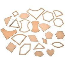 1 Set 54 pcs mixed Quilt plantillas acrílico DIY herramientas para Patchwork Quilter por sdetter