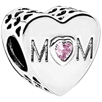 Pandora Women's Mother Heart Charm - 925 Sterling Silver, 791881PCZ