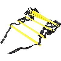 AGPtek Durable 8-peldaño Escalera de Agilidad para Entrenamiento de Fútbol, Velocidad, Fitness, Correr, para Trabajos Cooperativos