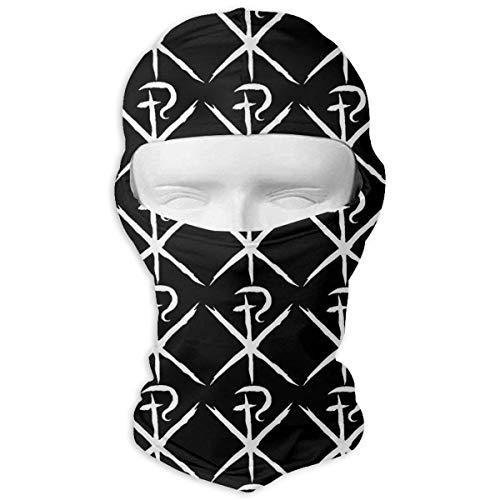 Aeykis ChiRho Die ersten zwei Buchstaben des griechischen Wortes Christus Unisex-Gesichtsmaske Dust Sun UV-Schutz Balaclava Gesichtsmaske - Camo Knit Beanie