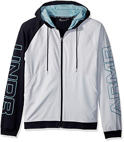 Under Armour Herren UA Baseline FZ Woven Jacket Jacke, Elemental/Black/Basel Blue (094), SM Running Woven Jacket