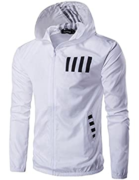 Ropa de abrigo para hombre, RETUROM Moda caliente otoño otoño invierno con capucha de impresión informal chaqueta...