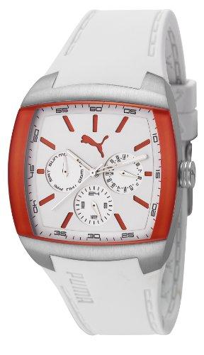 PUMA Motorsport PU102722001 - Reloj analógico de cuarzo unisex con correa de plástico, color blanco