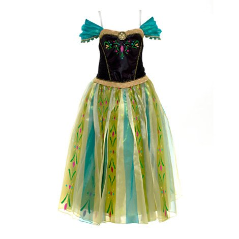 Disney, Princess Anna from Frozen Deluxe Fancy Dress Costume for Kids - Girls size 9 - 10