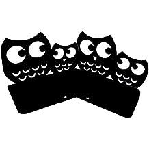 Winterworm rutschfeste S/ü/ße Eulen Owl Buchst/ützen Buchst/ütze Kunst 1/Paar schwarz
