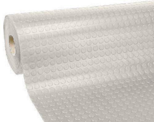 Passatoia zerbino tappeto rivestimento pavimenti in pvc antiscivolo flessibile e resistente disegno bollato larghezza 100 cm lunghezza 500 cm colore grigio chiaro