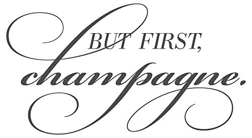 dekodino® Sticker mural Cuisine Inscription But First champagne Inscription en anglais Décoration Murale Décoration Murale boissons alcool Cuisine Carrelage mural Cuisine Cuisine Décoration Salle