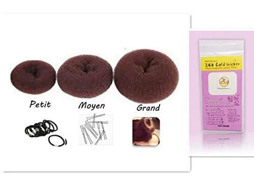 AMOYER Set de Donut Trois Chignon Anneau, Shaper Cheveux Styler Mak