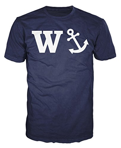 W-Anchor Funny Slogan T-shirt (Navy Blue) (S) for sale  Delivered anywhere in UK