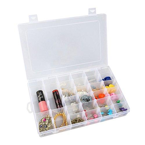 Inovera 36 Grid Cells Multipurpose Storage Box, Transparent