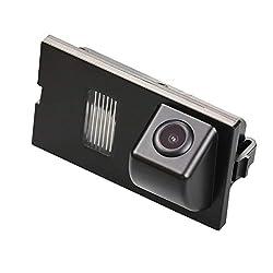 Farb Rückfahrkamera integriert in die Nummernschildbeleuchtung LED Kennzeichenbeleuchtung Kamera mit Distanzlinien für Land Rover Discovery 3 LR3 4 LR4 Range Rover Sport Freelander 2, Vogue