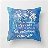 Desing shop Throne of Glass by Sarah J. Maas Book Quote 18x18 Inch Cotton Linen Decorative Pillow Case Throw Pillow.