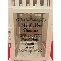 Personalised Wedding Lantern. any wording (as long as it fits)