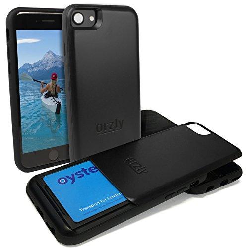 Funda para el iPhone 7 Plus, SlideCase de Orzly [Perfil Delgado con Doble Capa de Protección] – Portatarjetas y Funda Ultra Protectora para el iPhone 7 Plus [Robusta Protección Anti-Golpes / con Elevación en la Pantalla y Cámara]