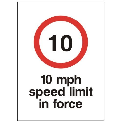 10MPH Speed Limit in kraft 450x 600selbstklebend -