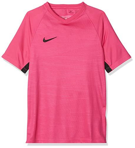 Nike Unisex Jungen Tiempo Premier SS Trikot T-shirt, Rosa (vivid pink/Black/662), Gr. XS