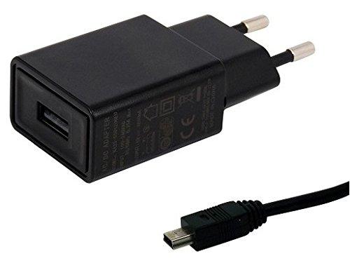 TÜV geprüfte 1.5A Ladegerät. 2.2 m kabel, kompatibel mit TomTom XL LIVE IQ Routes Regional. Schwarze netzLadegerät - netzteil mit ladekabel - datenkabel. Reise Ladegerät - ladeadapter mit GS Prüfzeichen. USB kabel - aufladekabel mit 1 jahr garantie auf diesem adapter.