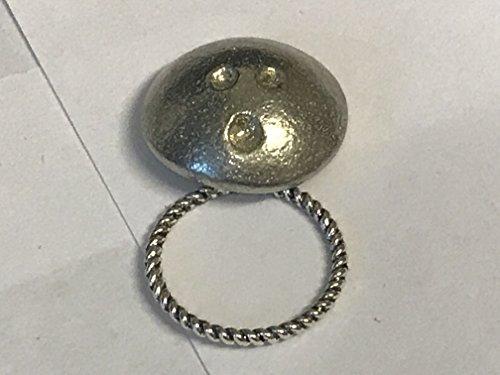 Ten Pin Bowling Ball 1.9cm x 1.9cm tg251Emblem aus feinem englischen Zinn Brosche Drop Hoop Halterung für Gläser, Stift, ID Schmuck geschrieben von uns Geschenke für alle 2016von Derbyshire - Ball Halter Bowling