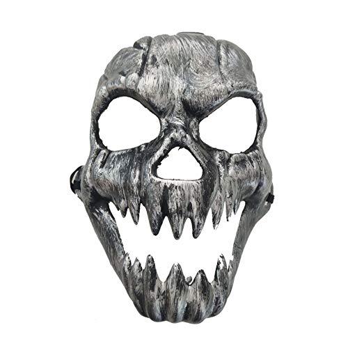Scary Ghost Maske Halloween Kostüm Masken Full Face Masken Party Kostüme Prop Masquerade Zubehör Face Decor - Silber
