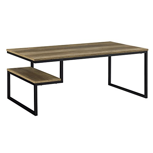mit Ablage in Holzfarben 110x60cm Beistelltisch Wohnzimmertisch Sofatisch Tisch ()