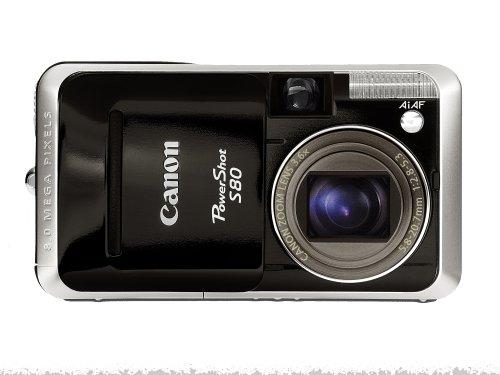 Canon PowerShot S80 Digitalkamera (8 Megapixel) schwarz