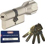 ABUS EC660 ECK660 Profil-Knaufzylinder Länge (a/b) Z50/K40mm (c=90mm) mit 5 Schlüssel, mit Sicherungskarte