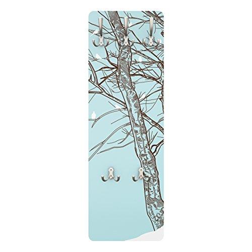 Apalis Coat Rack–Winter Trees 139x 46x 2cm, Garderobe, Wandgarderobe, Kleiderhaken, Wandgarderobe, Kleiderständer, - Coat Tree