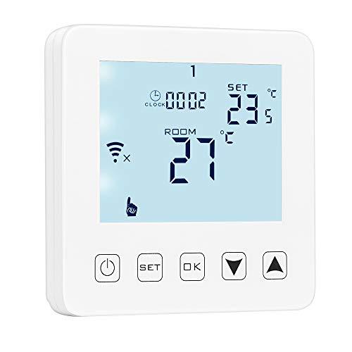 Winbang Thermostatregler, HY08 Thermostate Programmierbarer Temperaturregler WiFi Digitaler Thermostat-Warmwasserbereiter Einstellbarer Thermostat LCD-Anzeige (3A (Warmwasserbereitersteuerung)) - Programmierbare Wärmepumpe Thermostat