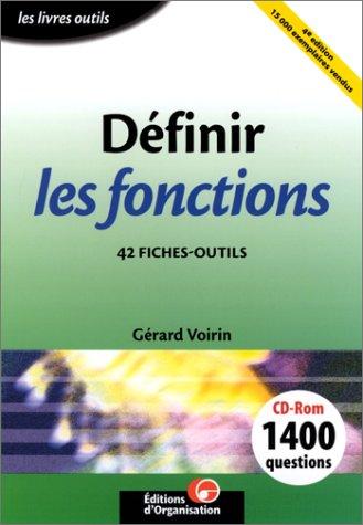 Définir les fonctions : 42 fiches-outils (1 livre + 1 CD-ROM) par Gérard Voirin