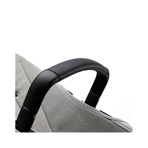 Bugaboo Cameleon³ Elements Pushchair (complete) Bugaboo Suitable from birth to a max. weight of 17kg 3 seat positions Padded adjustable 5 point harness Black leather-look handlebar and rotating carry handle Lightweight aluminium chassis Soft, herringbone fabric on bassinet, seat and sun canopy Gradient colour effect on the bassinet and back of seat Includes a matching, reversible seat inlay with leaf shape quilting 4