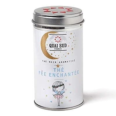"""Quai sud, boite à thé""""Thé fée enchantée"""" thé noir aromatisé violette-vanille"""