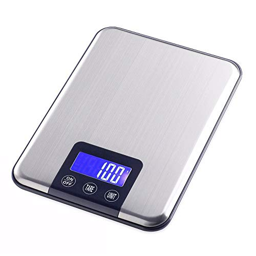DuDuDu Toucher Les Poids d'écran Digital Kitchen Scale Big Food Diet Scales15KG électronique Balance Slim Acier Inoxydable 1g