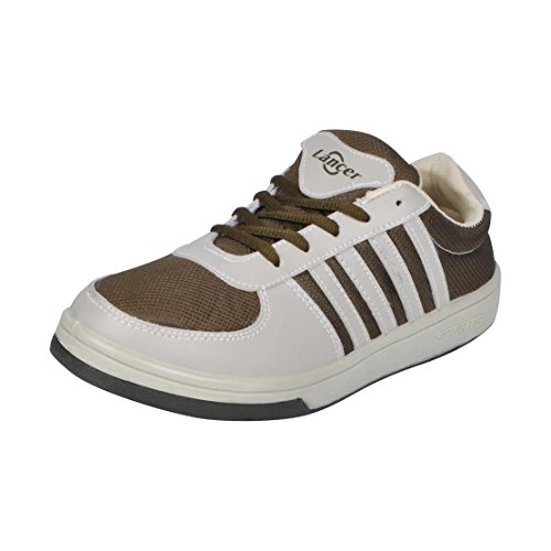 Lancer Men Yuva-Star33 Mhd-Beige Sports Running Shoes 10 UK