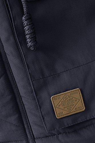 Threadbare Elfe Taslon Parka Hommes Manteau Doublure Fausse Fourrure À Capuche Parker Veste Bleu Marine