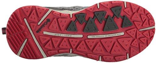 Columbia Youth Drainmaker Iii, Scarpe da Corsa Bambino Grigio (Grey Ash, Mountain Red 021)