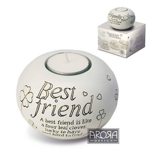 Arora Said with Sentiment Tealight Holder - Best Friend