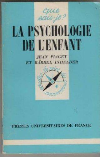 la-psychologie-de-lenfant-que-sais-je