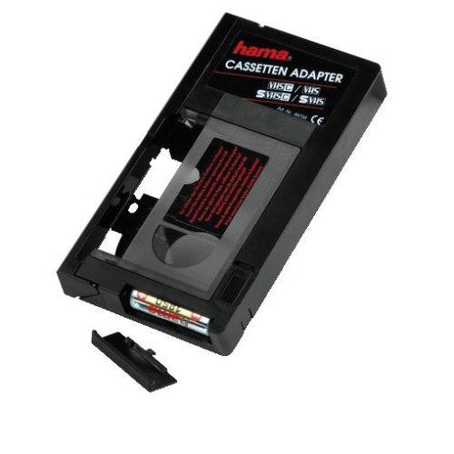 Hama Automatischer Kassettenadapter für VHS-C Videokassetten (Auto, Batteriebetrieben, Nicht geeignet für Hi8, Super8, Video8, Mini DV) schwarz