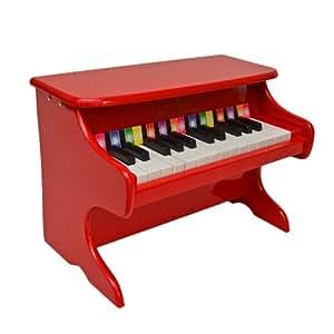 ts ideen mini piano pour enfants ailes en bois avec 25 touches couleur rouge. Black Bedroom Furniture Sets. Home Design Ideas