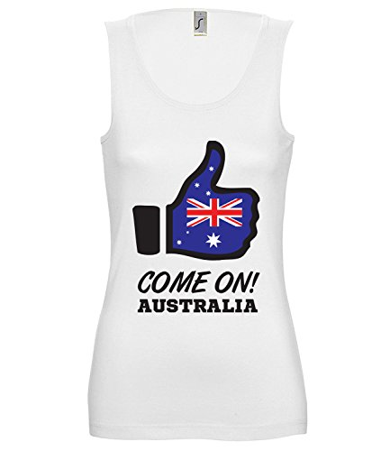 Artdiktat Damen Tank Top – Like WM 18 – Come on Australia – Russia Russland