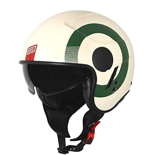 Jet Casco Original Sierra Verde-Rojo-Mate Blanco Talla
