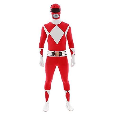 Morphsuits - Mlprrl - Original Power Rangers Pour Hauteur 165-180 Cm - Rouge - Taille L
