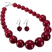 collier perle rouge fantaisie
