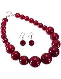 Rote perlenkette