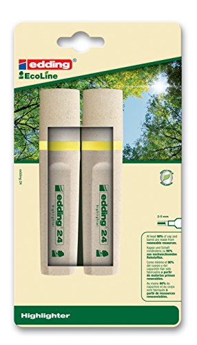 Edding 4-24-2-1005 Textmarker Highlighter 24 EcoLine, nachfüllbar, gelb - Nachfüllbarer Highlighter