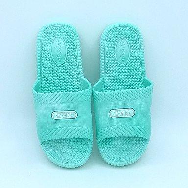 LQXZM Unisex pantofole & amp; flip-flops Primavera Estate Autunno Casual IN PVC tacco piatto verde blu arrossendo corallo rosa Blushing Pink