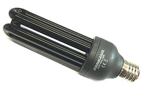 OmniaLaser OL-E27UV26W Lampadina a Raggi UV, 26 Watt 3U, Luce Blu, Effetto Fluorescente, Attacco E27