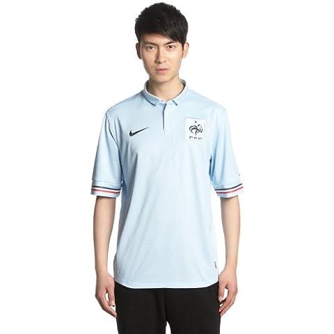 Nike - Camiseta para hombre, diseño del equipo de fútbol de Francia azul azul claro y negro